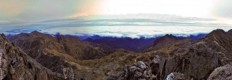 Panorama Mt Wilhelm Gipfel