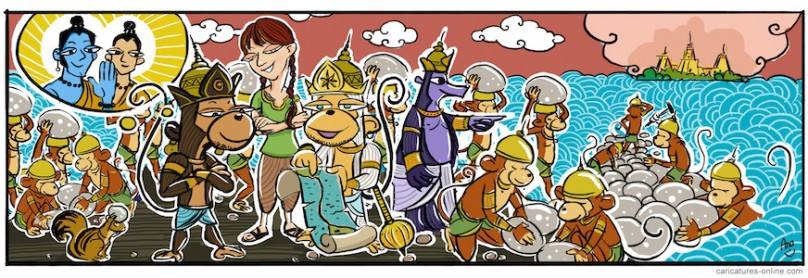 Monkey bridge cartoon1