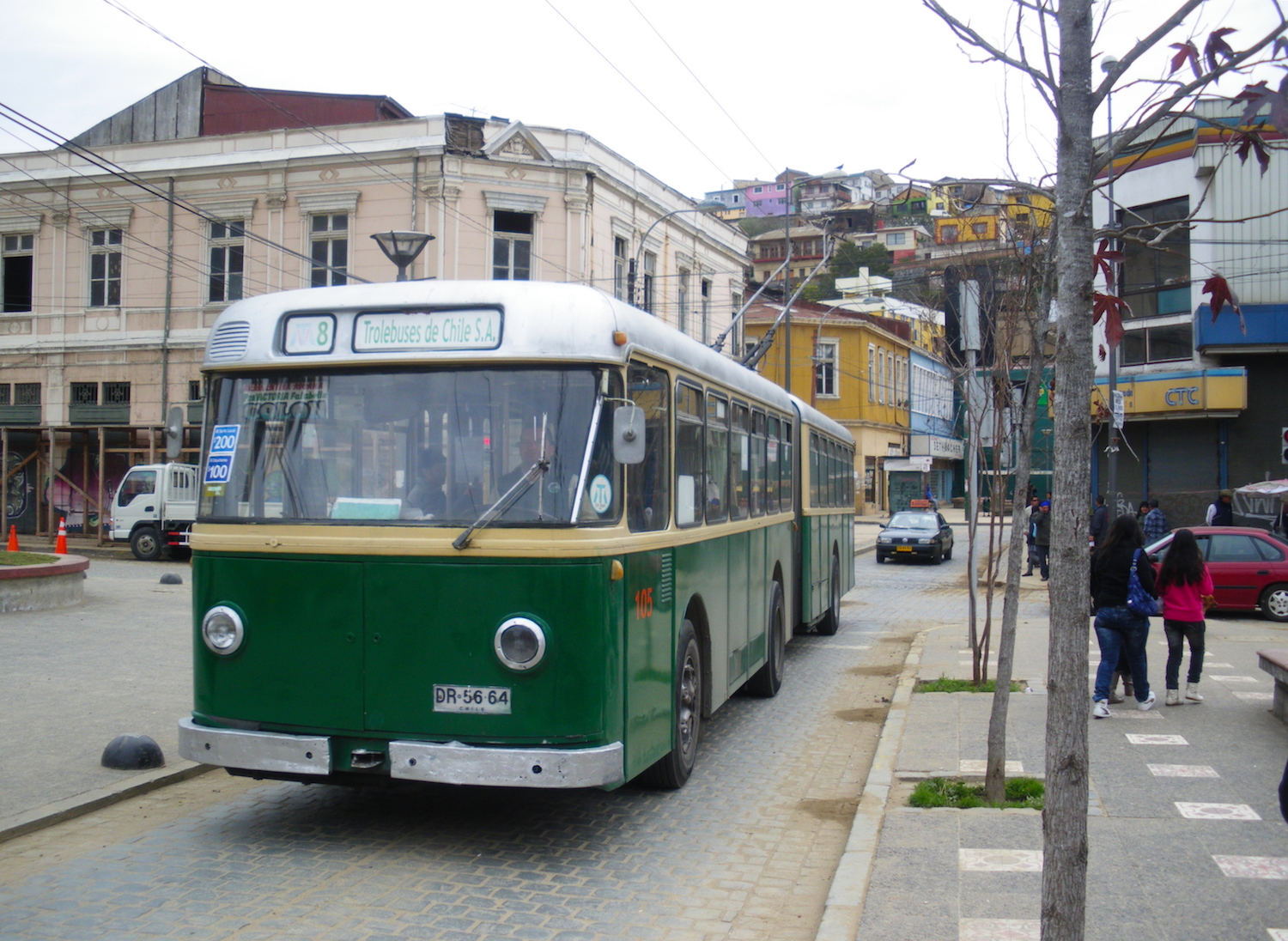 Trolleybus in Valparaiso