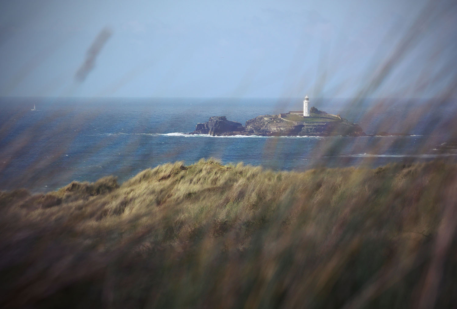 Gwithian Beach mit Lighthouse
