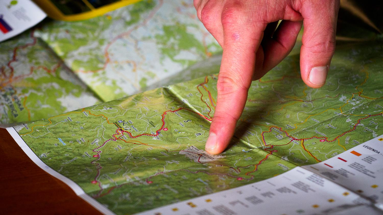 Kijk naar de kaart