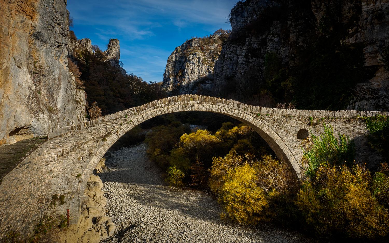 Nationaal park Vikos-Aoos - stenen brug