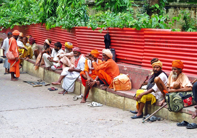 Sadhus in Rishikesh, Indien